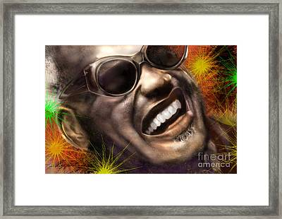Being Ray Charles1 Framed Print by Reggie Duffie