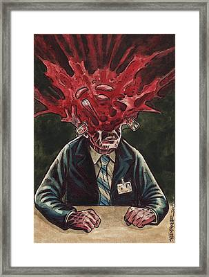 Being Scanned Is Harmless Framed Print by David Shumate