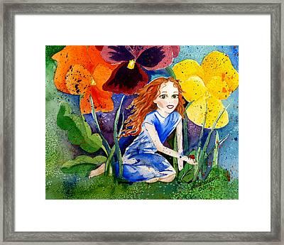 Tiny Flower Fairy Framed Print