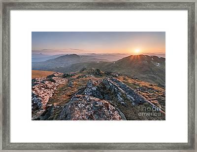 Sunset From Beinn Ghlas - Scotland Framed Print by Rod McLean