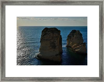 Beirut Pigeon Rocks Framed Print