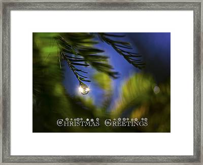 Bejeweled Christmas Greeting Framed Print