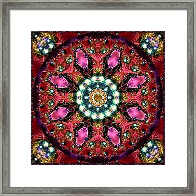 Framed Print featuring the digital art Bejewelled Mandala No 1 by Charmaine Zoe