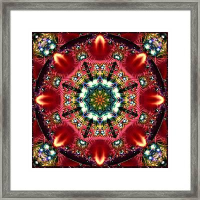 Bejewelled Mandala No 2 Framed Print
