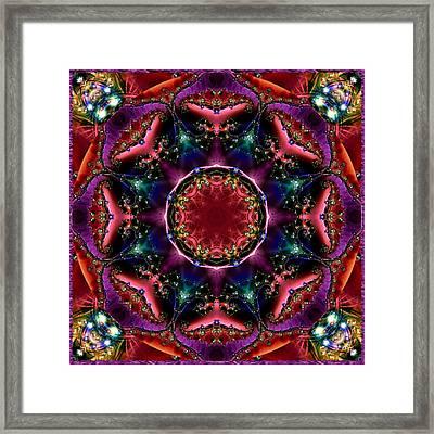 Framed Print featuring the digital art Bejewelled Mandala No 3 by Charmaine Zoe