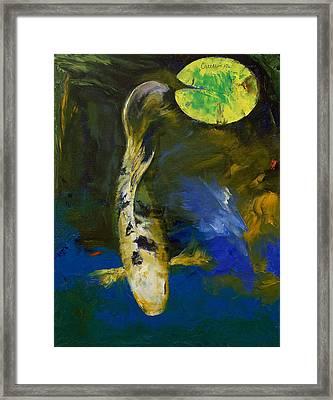 Bekko Butterfly Koi Framed Print by Michael Creese