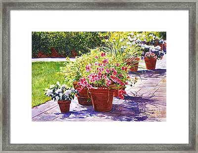 Bel-air Welcome Garden Framed Print by David Lloyd Glover