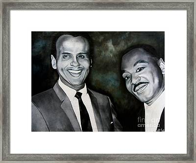 Belafonte And King Framed Print by Chelle Brantley