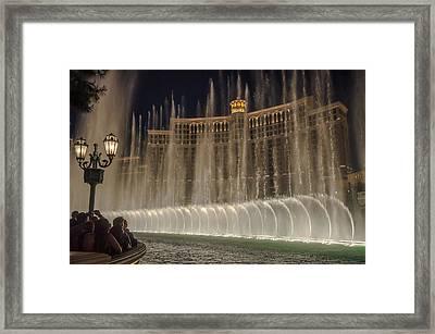 Belagio Fountains Framed Print by Ryan Heffron