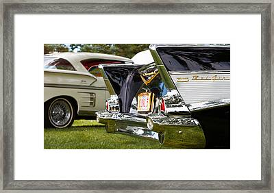 Framed Print featuring the photograph Belair Tail Fins  2 by Mick Flynn