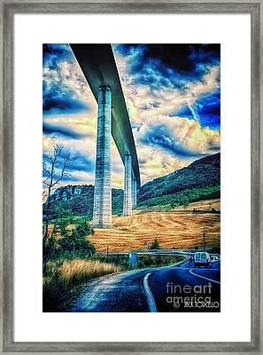 Beleau Millau Viaduct France Framed Print