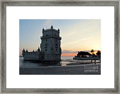 Belem Tower In Lisbon Framed Print