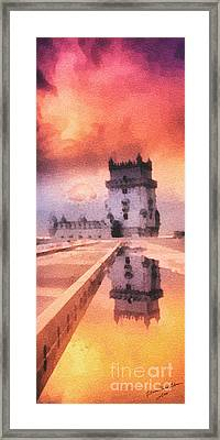 Belem Tower Framed Print by Mo T