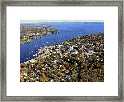 Belfast Bay And Penobscot Bay, Belfast Framed Print by Dave Cleaveland