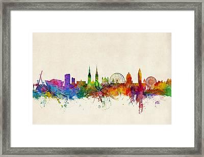 Belfast Northern Ireland Skyline Framed Print