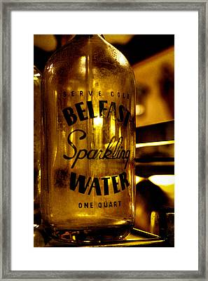 Belfast Sparkling Water Framed Print by David Patterson