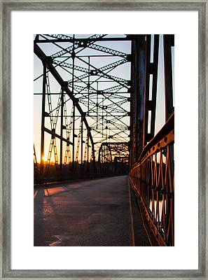 Belford Bridge At Sunset Framed Print