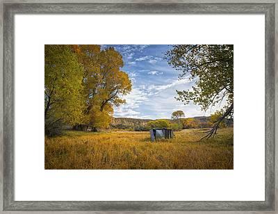 Belfry Fall Landscape Framed Print