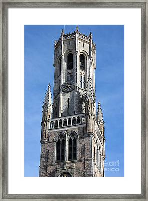 Belfry Tower In Bruges Belgium Framed Print by Kiril Stanchev