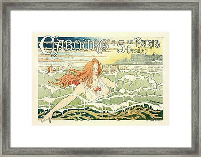 Belgian Poster For Le Casino De Cabourg Framed Print by Liszt Collection