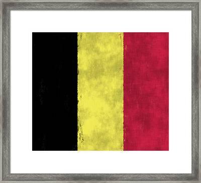 Belgium Flag Framed Print by World Art Prints And Designs