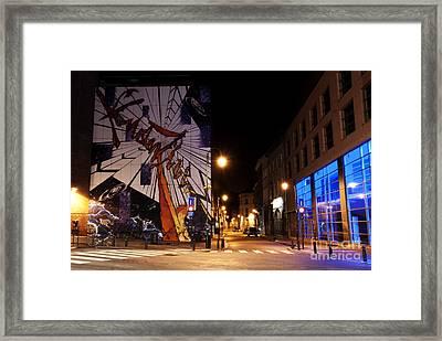Belgium Street Art Framed Print