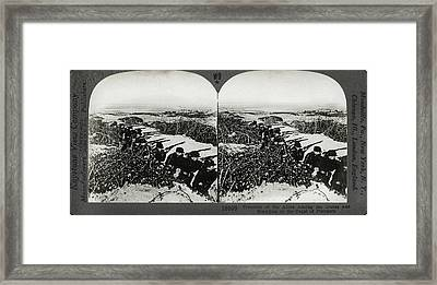Belgium Trenches, C1915 Framed Print