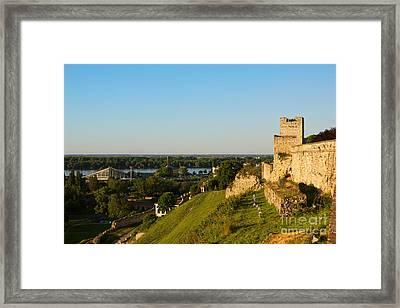 Belgrade Panoramic View Toward Danube River Framed Print by Kiril Stanchev