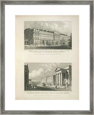 Belgrave Square And Chapel Framed Print by British Library