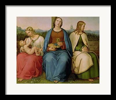 Faith Hope And Love Framed Prints