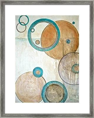 Belief In Circles Framed Print by Debi Starr