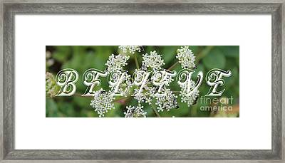 Believe Framed Print by Barbara Griffin