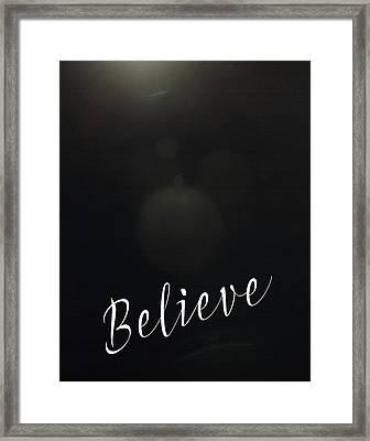 Believe Bokeh Framed Print