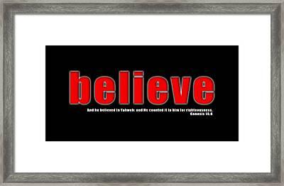 Believe Framed Print