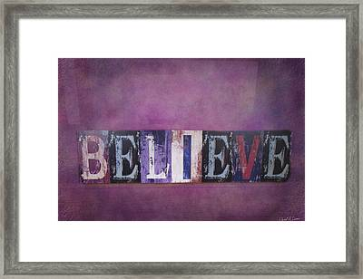 Believe Framed Print by David Simons