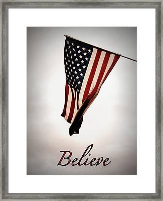 Believe In America Framed Print by Avis  Noelle