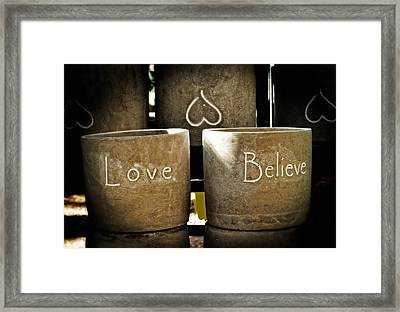 Believe In Love - Photography By William Patrick And Sharon Cummings Framed Print by Sharon Cummings