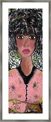 Believe In Pink Framed Print