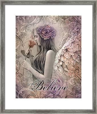 Believe Framed Print by Jessica Galbreth