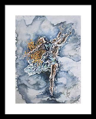Disintegration Paintings Framed Prints