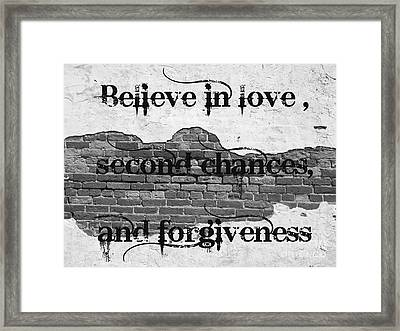 Believe Framed Print by Lorraine Heath