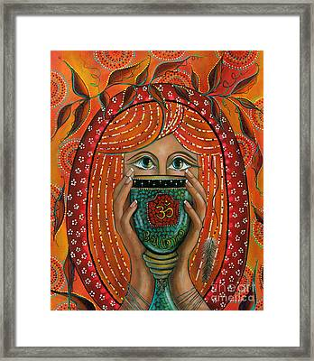 Framed Print featuring the painting OM by Deborha Kerr