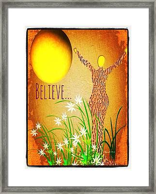 Believe Framed Print by Romaine Head