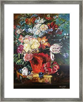 Life Is A Bouquet Of Flowers  Framed Print by Belinda Low