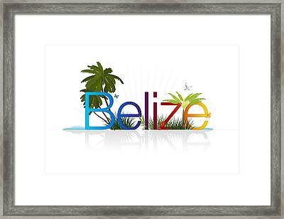 Belize Framed Print by Aged Pixel