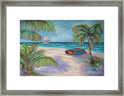 Belize Beach Framed Print