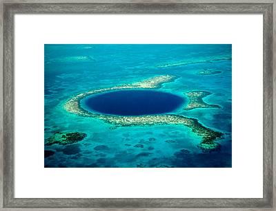 Belize Blue Hole Framed Print