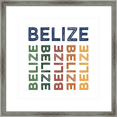 Belize Cute Colorful Framed Print