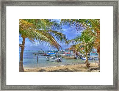 Belize Hdr Framed Print