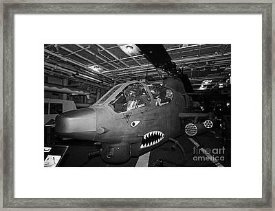 Bell Ah1 Cobra On The Hangar Deck Of The Intrepid Sea Air Space Museum Framed Print